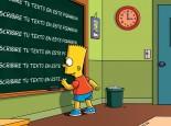 escribir tu texto con Bart Simpson en un pizarron