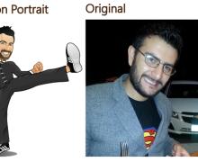 Diseño de personaje caricatura basado en tu foto
