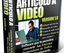Te Dare Un Potente Software Que Convertira Tus Articulos De Texto a Video Con Musica De Fondo En Menos de 45 Segundos