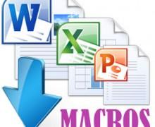 Yo voy a hacer una macro para Word y Excel