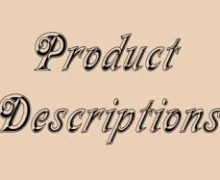 Yo voy a escribir 5 descripciones de productos 100 palabras