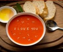 Yo voy a escribir un mensaje en la sopa por 100 pesos