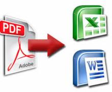 Yo voy a Convertir PDF y archivos de imagen a Word o Excel