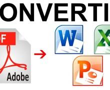 Yo voy a convertir PDF a Excel o Word y viceversa