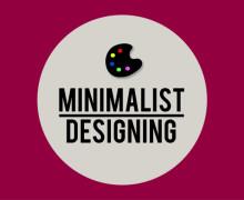 Yo voy a diseñar un cartel o tipografía personalizada minimalista