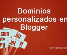 Yo voy a configurar su dominio personalizado para blogger