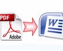 Yo voy a editar archivo PDF y convertir al archivo de Word