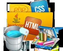 Yo voy a modificar el aspecto de tu sitio web utilizando html, css, javascript y php