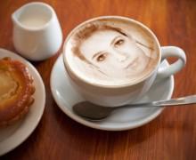 Yo voy a poner su imagen en una taza de café Cappuccino