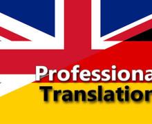 Yo voy a traducir del Inglés al Alemán