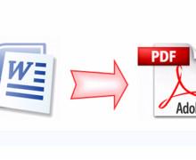 Yo voy a convertir un documento de word a PDF