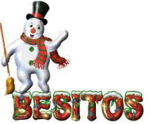 Yo voy a poner tu mensaje en el cartel del hombre de nieve.