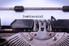 Yo voy a escribir un testimonio convincente y positivo para su sitio web